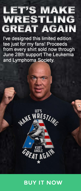 Kurt Angle Let's make wrestling great again t-shirt